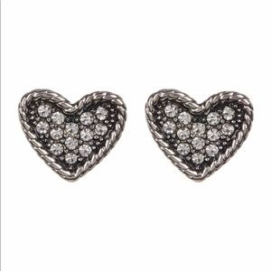 NWT Marc Jacobs Crystal Detail Heart Earrings